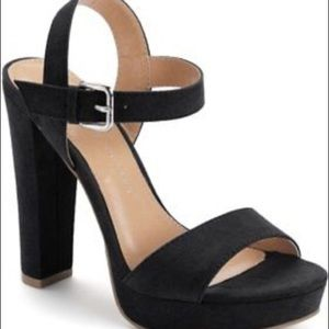Shoes - Like new. Lauren Conrad suede platform heels